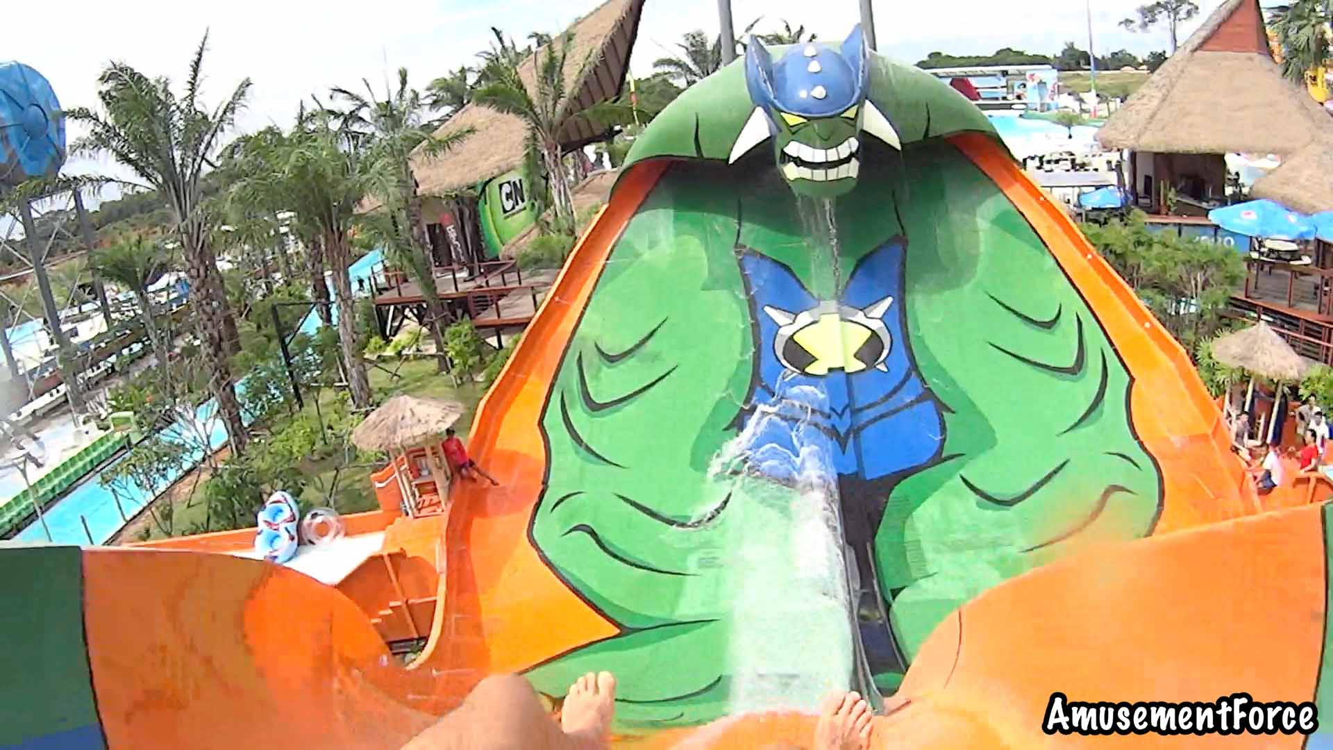 Cartoon Network Amazone Waterpark In Sattahip Thailand Rides Videos Pictures And Review